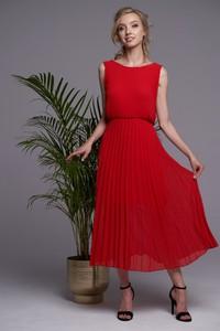 Czerwona sukienka Ella Boutique maxi bez rękawów