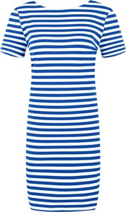 Sukienka Tommy Jeans z krótkim rękawem z okrągłym dekoltem