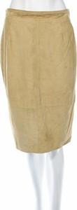 Brązowa spódnica Basile ze skóry