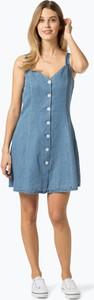 Niebieska sukienka Vila mini prosta