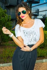 T-shirt IVET.PL z krótkim rękawem z bawełny