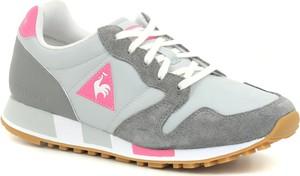 Buty sportowe Le Coq Sportif sznurowane ze skóry na koturnie