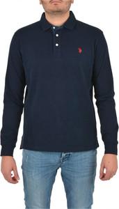 Niebieska koszulka z długim rękawem U.S. Polo