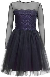 Sukienka JO-LI gorsetowa midi z okrągłym dekoltem