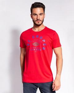 T-shirt Lee Cooper z krótkim rękawem z nadrukiem w młodzieżowym stylu