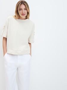 Bluzka Mohito z okrągłym dekoltem w stylu casual z krótkim rękawem