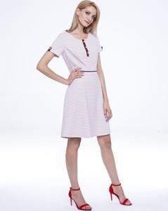 Sukienka L'AF z krótkim rękawem z tkaniny