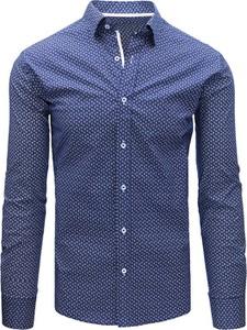 Niebieska koszula dstreet z bawełny z długim rękawem