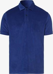 T-shirt Nils Sundström w stylu casual z dżerseju z krótkim rękawem