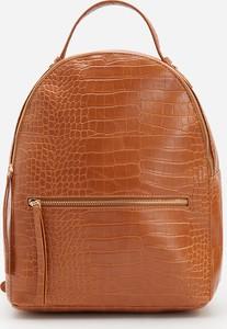 Brązowy plecak Reserved ze skóry