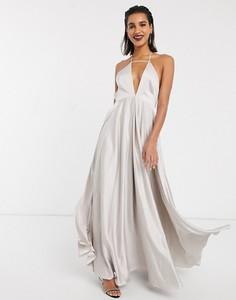 Sukienka Asos Edition z dekoltem w kształcie litery v