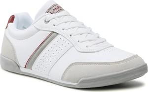 Buty sportowe Lanetti ze skóry ekologicznej sznurowane