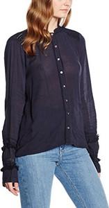 Granatowa koszula amazon.de z kołnierzykiem z długim rękawem