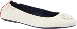 Baleriny Tommy Hilfiger w stylu casual ze skóry z płaską podeszwą