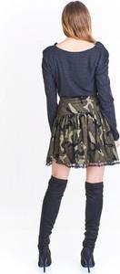 Spódnica Nubile midi w militarnym stylu