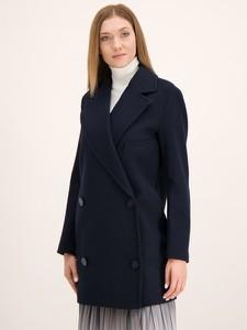 Granatowy płaszcz Armani Jeans