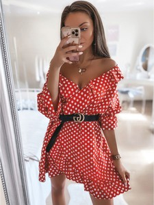 Sukienka magmac.pl mini z dekoltem w kształcie litery v