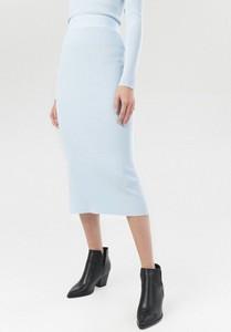 Niebieska spódnica born2be midi