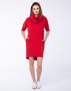 Czerwona sukienka Look made with love w stylu casual