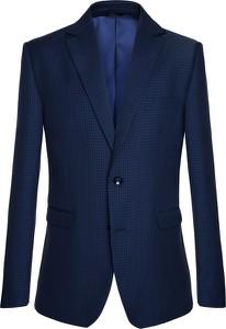 Niebieski garnitur producent niezdefiniowany z wełny
