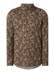 Brązowa koszula Antony Morato w młodzieżowym stylu z klasycznym kołnierzykiem z bawełny