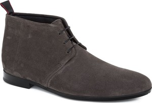 Buty zimowe Hugo Boss z zamszu sznurowane