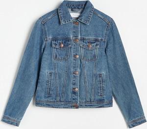 Niebieska kurtka Reserved z jeansu krótka