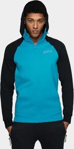 Niebieska bluza 4F z dzianiny