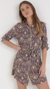 Fioletowa sukienka born2be mini