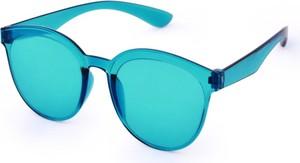 Dedra Tęczowe okulary przeciwsłoneczne, 100% ochrona UV turkusowe, UV400