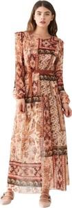 Sukienka Rinascimento maxi z dekoltem w kształcie litery v