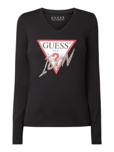 Bluzka Guess w młodzieżowym stylu z długim rękawem