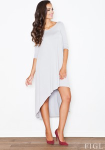 Sukienka Figl z krótkim rękawem z okrągłym dekoltem asymetryczna