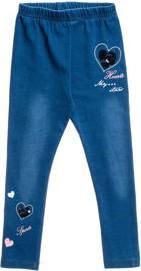 Niebieskie legginsy dziecięce denley z jeansu