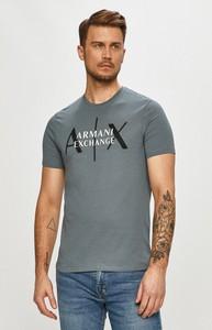 T-shirt Armani Exchange z dzianiny w młodzieżowym stylu z krótkim rękawem