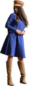Niebieska sukienka Lemoniade z długim rękawem