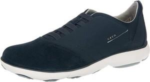 Granatowe buty sportowe Geox sznurowane