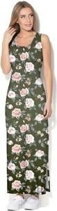 Sukienka COLOUR PLEASURE z okrągłym dekoltem maxi z dzianiny