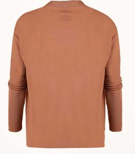 Brązowa bluza Byinsomnia z dzianiny krótka