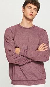 Czerwona koszulka z długim rękawem Reserved w stylu casual z długim rękawem