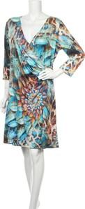 Sukienka Boho Chic z długim rękawem w stylu boho z dekoltem w kształcie litery v
