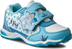 Niebieskie półbuty dziecięce Disney Frozen na rzepy