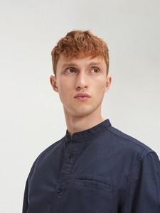 Granatowa koszula Cropp z długim rękawem