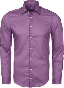 Fioletowa koszula Redmond z tkaniny