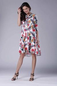 Sukienka Nommo z długim rękawem midi