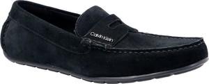 Granatowe półbuty Calvin Klein w stylu casual