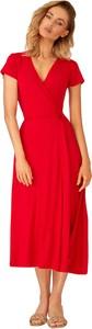 Sukienka Kolorli wyszczuplająca z krótkim rękawem