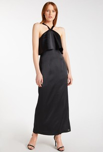 Czarna sukienka Monnari z okrągłym dekoltem maxi
