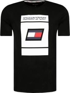 Czarny t-shirt Tommy Sport
