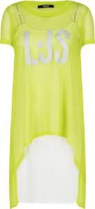Sukienka Liu-Jo prosta z okrągłym dekoltem mini